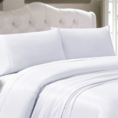 300-Thread-Count Tencel® Polyester Solid California King Sheet Set in White