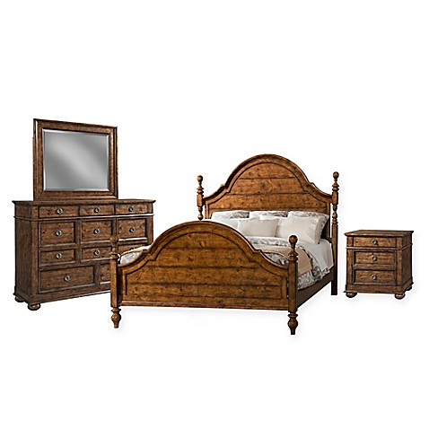 buy klaussner southern pines 4 piece king bedroom set in brown from