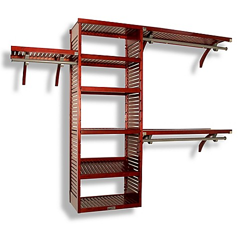 John Louis Home Red Mahogany Deluxe Closet Organizer