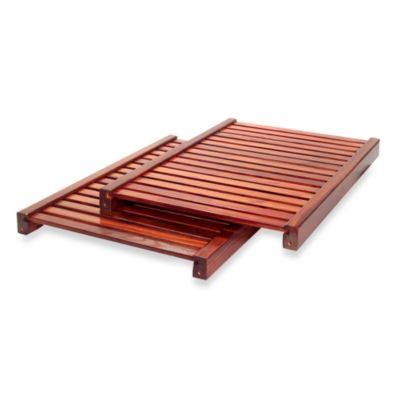 John Louis Home Red Mahogany 16-Inch Deep Deluxe Adjustable Shelves (Set of 2)
