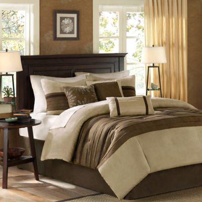 Madison Park Palmer 7-Piece California King Comforter Set in Natural