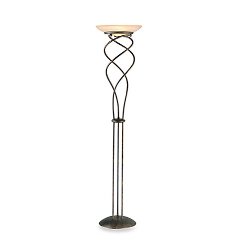 Lite Source Helix II Rusted Gold Finish Floor Lamp