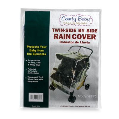 Comfy Baby Twin/Side by Side Stroller Rain Cover - from JPS