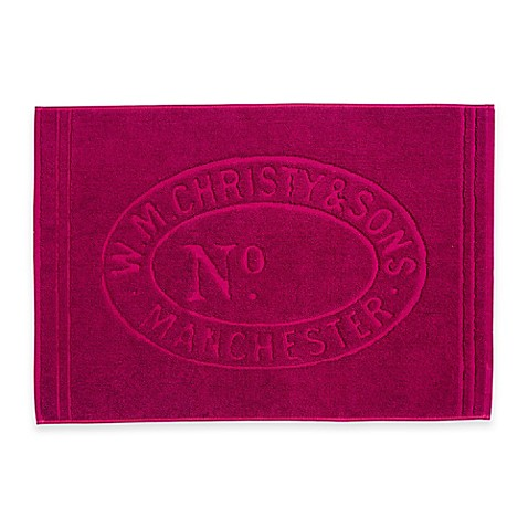 Buy Christy Lifestyle Heritage Cotton 24 Inch X 35 Inch Bath Mat Raspberry From Bed Bath Beyond