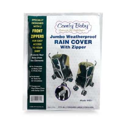 Stroller Accessories > Comfy Baby Jumbo Weatherproof Stroller Rain Cover with Zipper