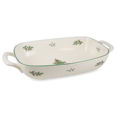 "Spode® Christmas Tree 14"" L x 7 1/2"" W Bread Basket"