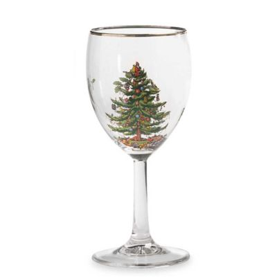 Spode® Christmas Tree Wine Glasses (Set of 4)