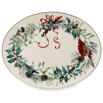 Lenox® Winter Greetings® 13-Inch Oval Platter