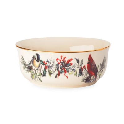 Lenox® Winter Greetings® 9 1/2-Inch Open Vegetable Bowl