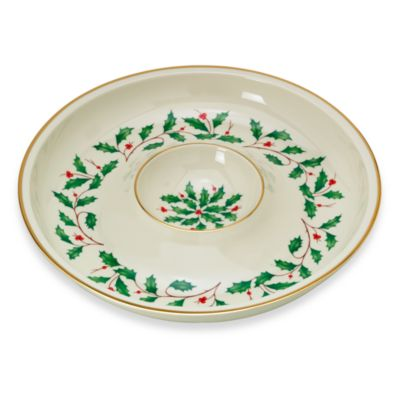 Lenox® Holiday™ Chip & Dip Server