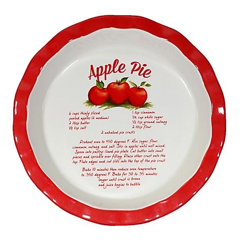 10 Inch Decorative Ceramic Apple Pie Plate Www