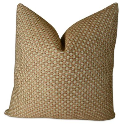 Buy Plutus Alice White Paprika Handmade 24-Inch Square Throw Pillow in Red from Bed Bath & Beyond