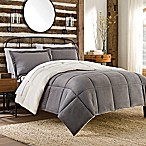 So-Soft™ Plush 3-Piece Reversible Full/Queen Mini Comforter Set in Grey