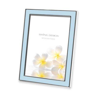 Swing Design™ Lura 5-Inch x 7-Inch Picture Frame in Blue/Silver