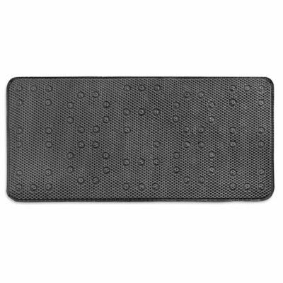Waffle-Weave Foam 17-Inch x 36-Inch Tub Mat in Silver