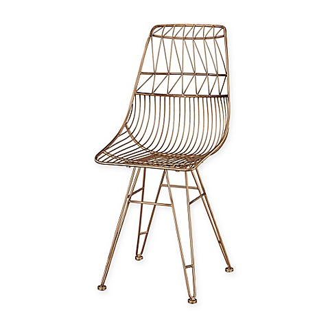 Sterling Industries Jette Chair In Rose Gold Bed Bath