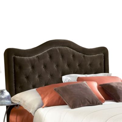 Hillsdale Furniture Trieste Upholstered Queen Headboard without Rails in Chocolate