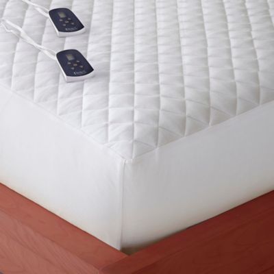 Micro Flannel® King Electric Mattress Pad in White