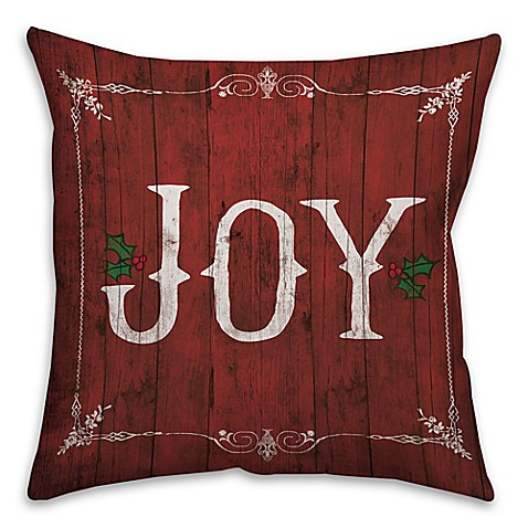 Buy Rustic Joy 18-Inch Square Throw Pillow from Bed Bath & Beyond