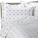 Sin in Linen™ White Skullstar Duvet Cover, 100% Cotton - White