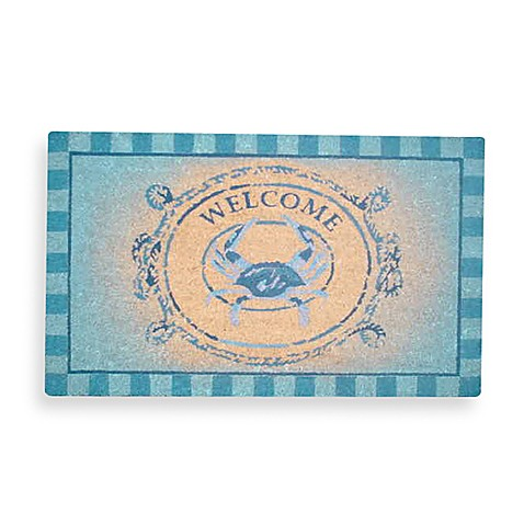 18-Inch x 30-Inch Blue Crab Welcome Doormat