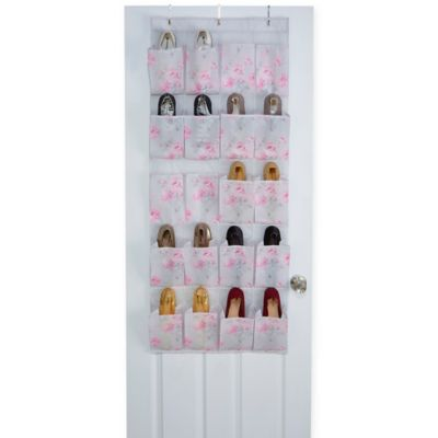 Laura Ashley Beatrice 20-Pocket Non-Woven Over-the-Door Hanging Shoe Organizer