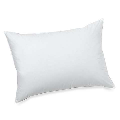 Jumbo White Down Pillow, 100% Cotton