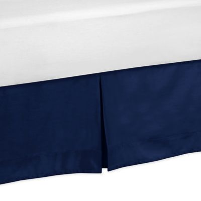 Sweet JoJo Designs Stripe King Bed Skirt in Navy