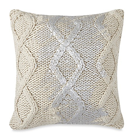 Madison Square 18-Inch Decorative Pillows : Fjord 18-Inch Square Throw Pillow in Cream - www.BedBathandBeyond.com