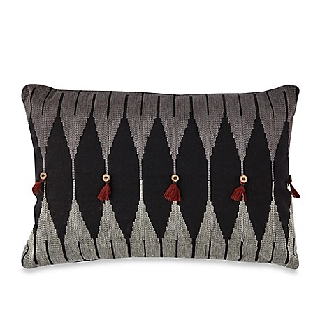 Black Throw Pillow For Bed : Tribal Rectangle Throw Pillow in Black/White - Bed Bath & Beyond