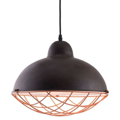 Zuo Modern Contemporary Kong Ceiling Lamp in Distressed Black