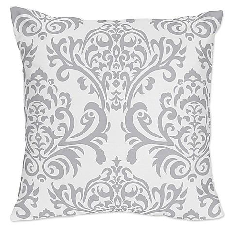 Sweet Jojo Designs Skylar Damask Throw Pillow in Grey (Set of 2) - www.buybuyBaby.com