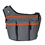 Diaper Dude® Original Style Messenger I Bag in Grey