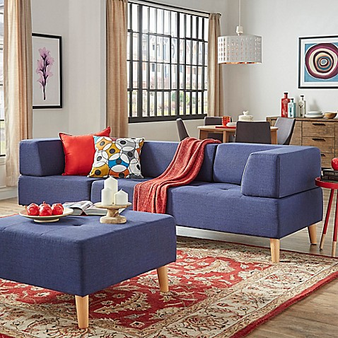 Verona home radley mid century modular sofa and loveseat for Mid century modern modular homes