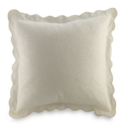 Matelasse Coventry European Sham in Ivory