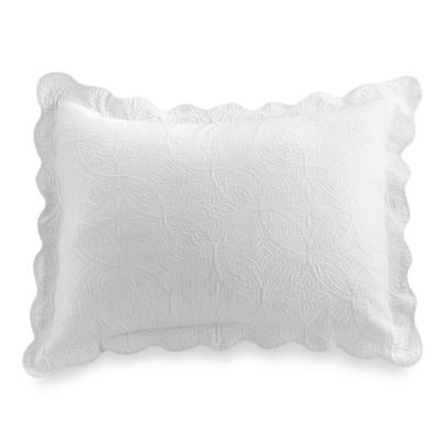 Matelasse Coventry Standard Sham in White