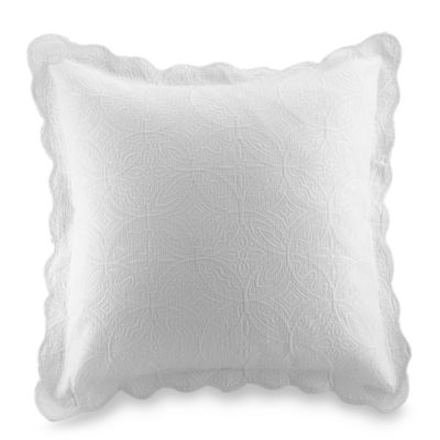 Matelasse Coventry European Sham in White