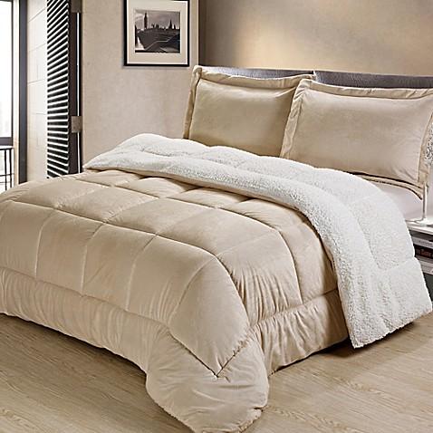 Sherpa Down Alternative Comforter Set Www