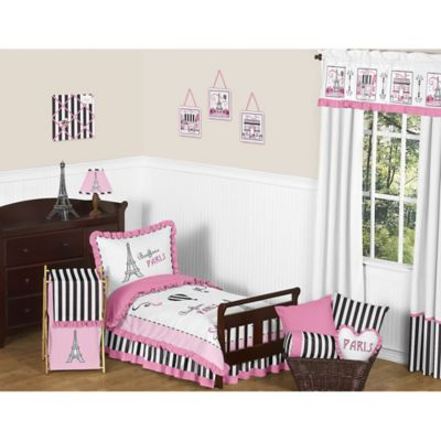 Sweet Jojo Designs 5-Piece Paris Toddler Bedding Set