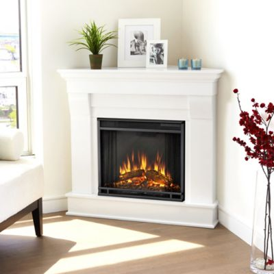 Real Flame® Chateau Corner Electric Fireplace in White