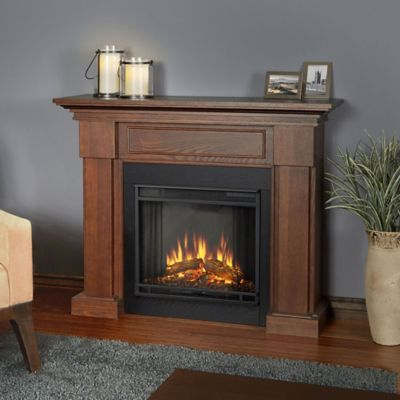 Real Flame® Hillcrest Electric Fireplace in Chestnut Oak