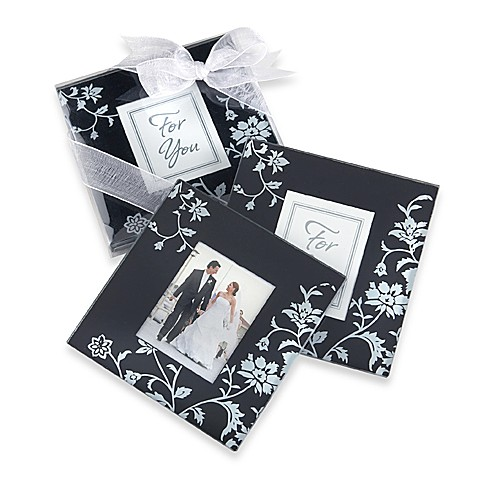 Kate Aspen® Black and White Coasters (Set of 2)