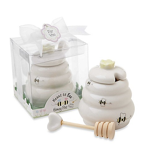 Kate Aspen® Meant to Be Honey Pot with Dipper Favor