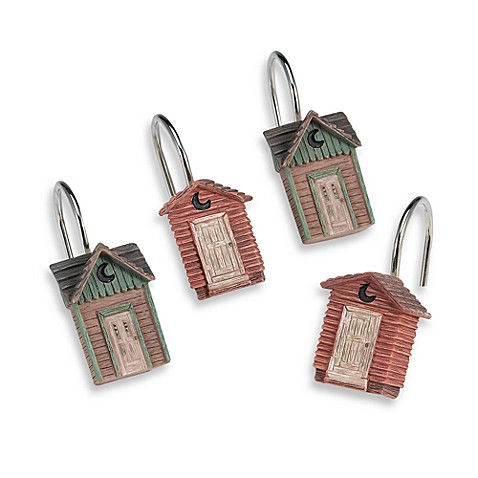 Avanti Outhouses Shower Curtain Hooks (Set of 12)