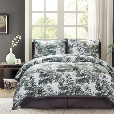 Cameroon King Comforter Set in Forest