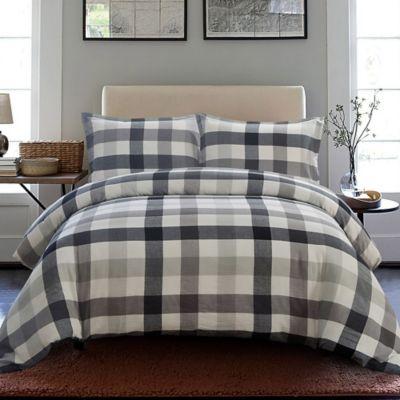 Ned 4-Piece Queen Comforter Set in White/Black