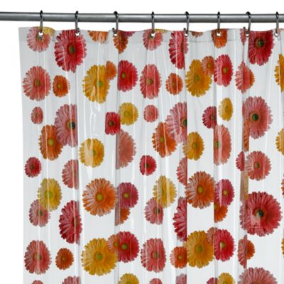 InterDesign® Gerber Daisy 72-Inch x 72-Inch Vinyl Shower Curtain