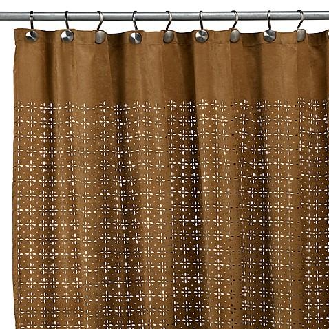 Sedona star fabric 72 x 72 shower curtain nutmeg bed for Star curtain fabric