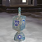 Outdoor Lighted Spinning Dreidel