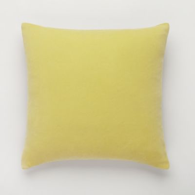 Cameron Cotton Square Throw Pillow in Yellow